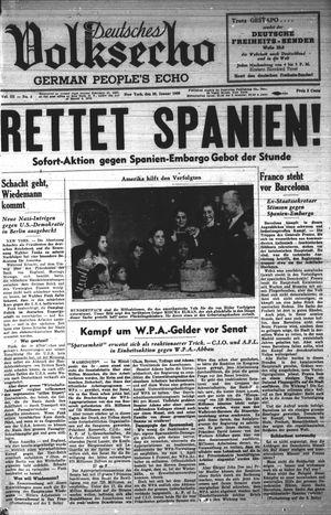Deutsches Volksecho vom 28.01.1939