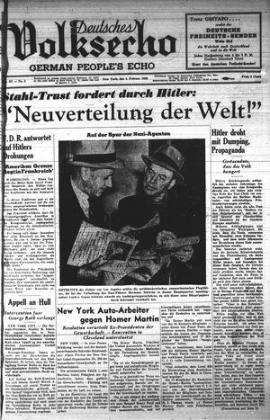 Deutsches Volksecho vom 04.02.1939