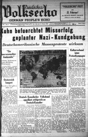 Deutsches Volksecho vom 11.02.1939