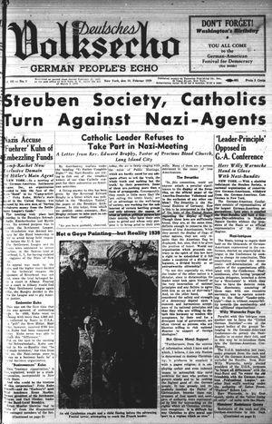 Deutsches Volksecho vom 18.02.1939