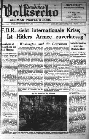 Deutsches Volksecho vom 25.02.1939