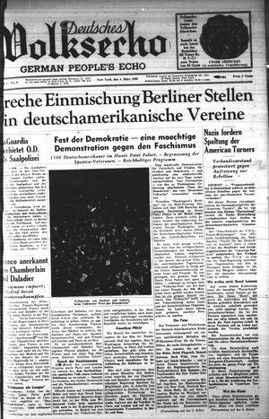 Deutsches Volksecho vom 04.03.1939