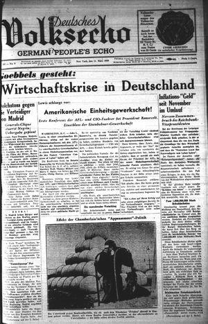 Deutsches Volksecho vom 11.03.1939
