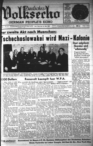 Deutsches Volksecho vom 18.03.1939