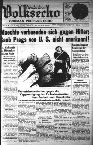 Deutsches Volksecho on Mar 25, 1939