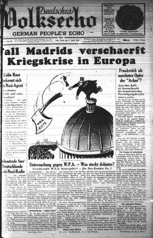 Deutsches Volksecho vom 01.04.1939