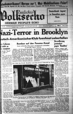 Deutsches Volksecho vom 29.04.1939