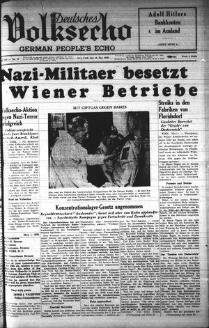Deutsches Volksecho vom 13.05.1939