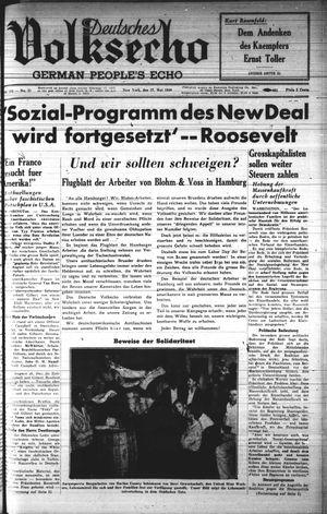 Deutsches Volksecho on May 27, 1939