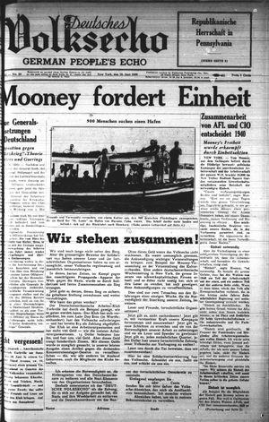 Deutsches Volksecho vom 10.06.1939