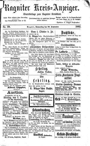 Ragniter Kreis-Anzeiger on Sep 28, 1882