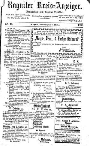 Ragniter Kreis-Anzeiger vom 05.10.1882