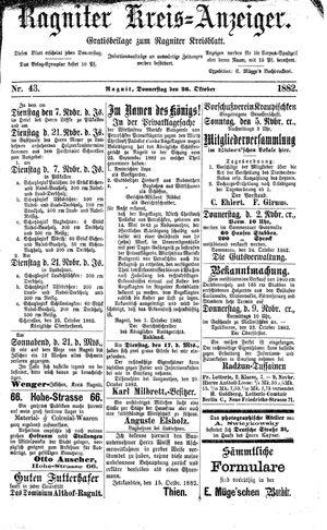 Ragniter Kreis-Anzeiger on Oct 26, 1882
