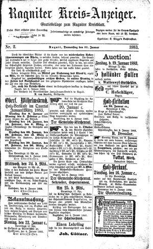 Ragniter Kreis-Anzeiger on Jan 11, 1883
