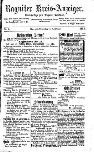 Ragniter Kreis-Anzeiger vom 01.02.1883