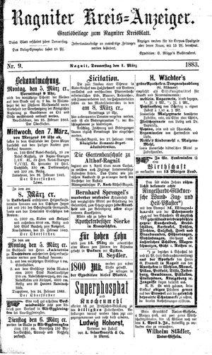 Ragniter Kreis-Anzeiger vom 01.03.1883