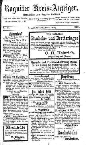 Ragniter Kreis-Anzeiger vom 15.03.1883