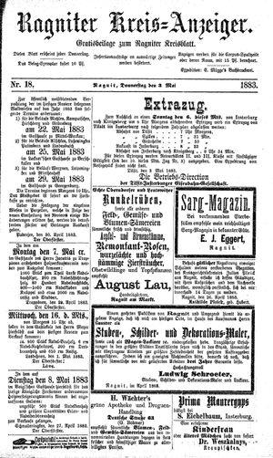 Ragniter Kreis-Anzeiger vom 03.05.1883