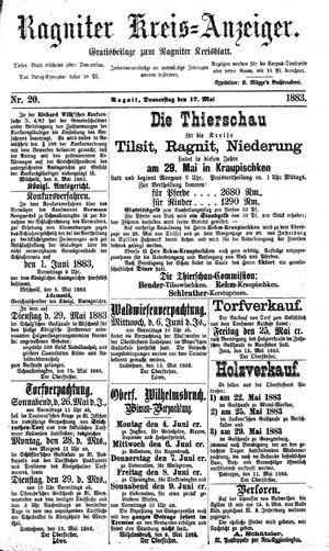 Ragniter Kreis-Anzeiger vom 17.05.1883