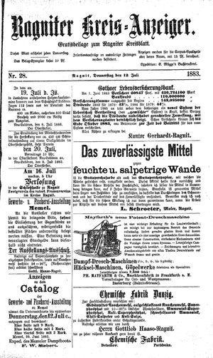 Ragniter Kreis-Anzeiger vom 12.07.1883