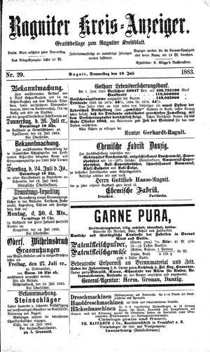 Ragniter Kreis-Anzeiger vom 19.07.1883