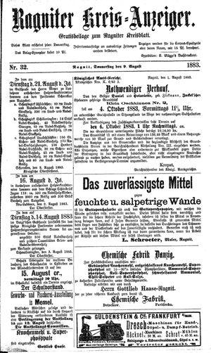 Ragniter Kreis-Anzeiger on Aug 9, 1883
