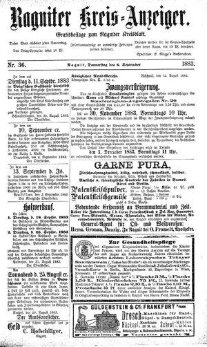 Ragniter Kreis-Anzeiger on Sep 6, 1883