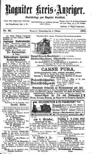 Ragniter Kreis-Anzeiger vom 04.10.1883