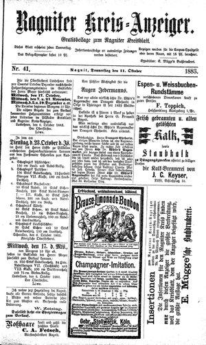 Ragniter Kreis-Anzeiger vom 11.10.1883