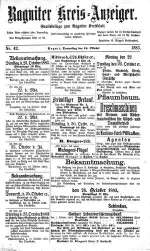 Ragniter Kreis-Anzeiger vom 18.10.1883