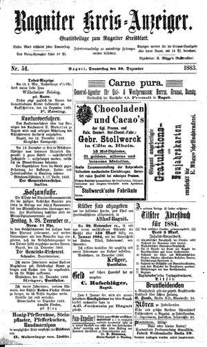 Ragniter Kreis-Anzeiger vom 20.12.1883