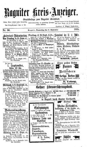 Ragniter Kreis-Anzeiger vom 03.09.1885