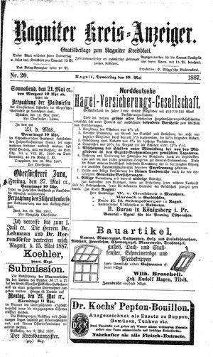 Ragniter Kreis-Anzeiger on May 19, 1887