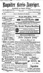 Ragniter Kreis-Anzeiger (22.09.1887)