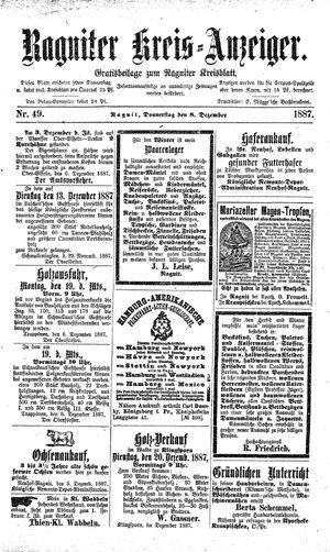 Ragniter Kreis-Anzeiger vom 08.12.1887