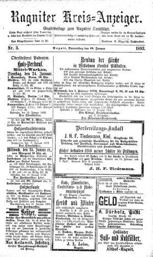 Ragniter Kreis-Anzeiger vom 19.01.1893