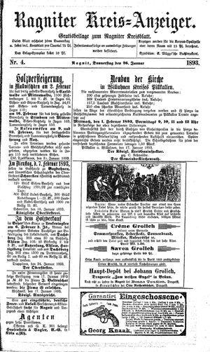 Ragniter Kreis-Anzeiger vom 26.01.1893