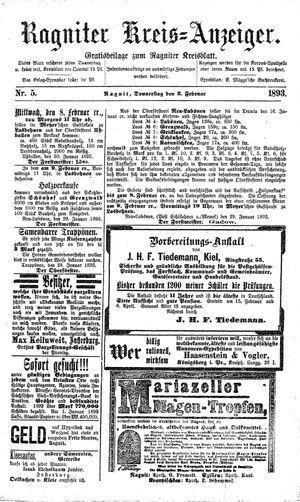 Ragniter Kreis-Anzeiger vom 02.02.1893