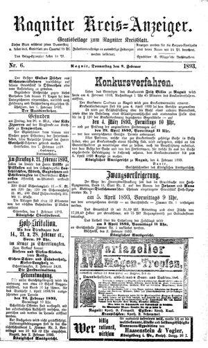 Ragniter Kreis-Anzeiger vom 09.02.1893
