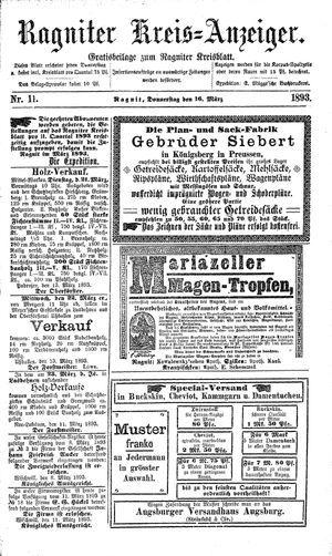 Ragniter Kreis-Anzeiger vom 16.03.1893