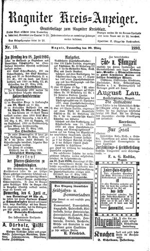 Ragniter Kreis-Anzeiger vom 30.03.1893