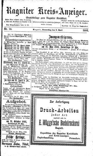 Ragniter Kreis-Anzeiger vom 06.04.1893