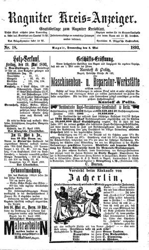 Ragniter Kreis-Anzeiger vom 04.05.1893