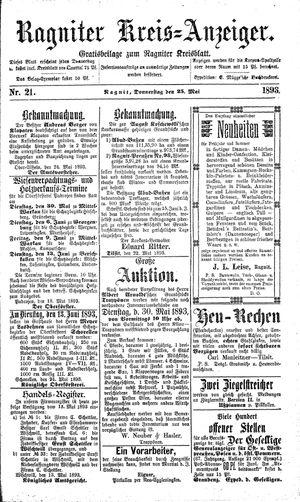 Ragniter Kreis-Anzeiger vom 25.05.1893
