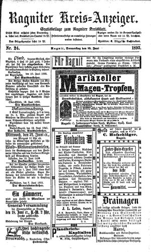 Ragniter Kreis-Anzeiger vom 15.06.1893
