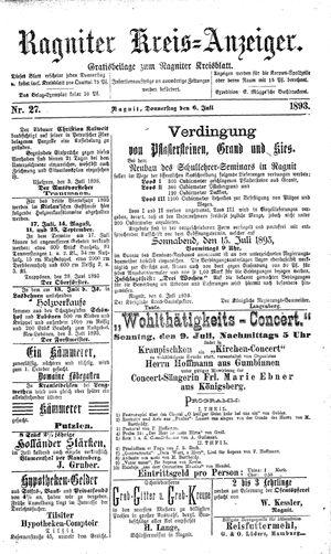 Ragniter Kreis-Anzeiger vom 06.07.1893