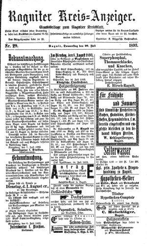Ragniter Kreis-Anzeiger vom 20.07.1893