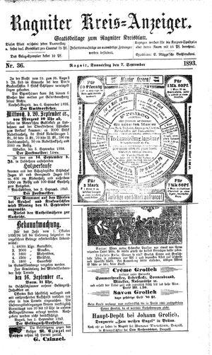 Ragniter Kreis-Anzeiger vom 07.09.1893