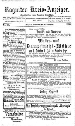 Ragniter Kreis-Anzeiger vom 21.09.1893