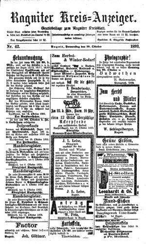 Ragniter Kreis-Anzeiger vom 19.10.1893